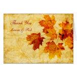 el boda del marrón del otoño de la caída le tarjeton