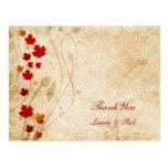 el boda del marrón del otoño de la caída le tarjeta postal