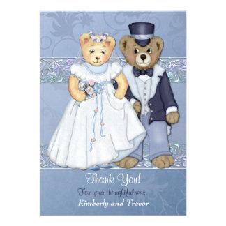 El boda del oso de peluche le agradece - personali