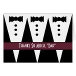 El boda del PADRASTRO le agradece - tres smokinges Felicitacion