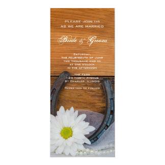 El boda del país de la margarita blanca y de la invitación 10,1 x 23,5 cm