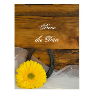 El boda del país de la margarita y de la herradura tarjetas postales