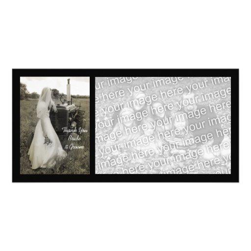 El boda del país de la novia y del tractor le agra tarjetas fotográficas