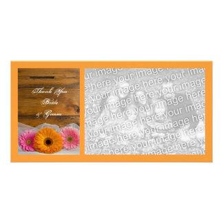 El boda del país del trío de la margarita le agrad tarjetas fotográficas personalizadas