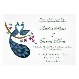 El boda del pavo real -1 invita