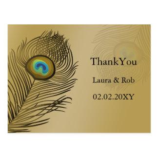 el boda del pavo real del oro le agradece postales