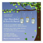 El boda del roble de las luciérnagas del tarro de comunicados personales