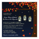 El boda del roble de las luciérnagas del tarro de anuncio