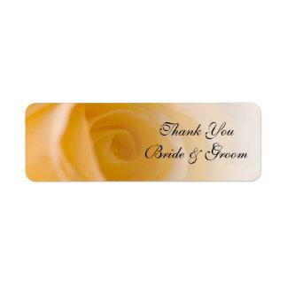 El boda del rosa blanco le agradece favorecer la etiqueta de remitente