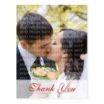 El boda del rosa blanco le agradece postal