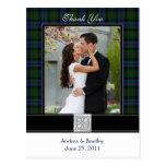 El boda del tartán de Baird le agradece postal