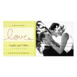 El boda del té del amor de la MOD de los círculos  Tarjetas Personales Con Fotos