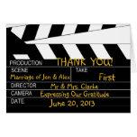 El boda del tema de la película le agradece tarjeton