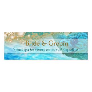 El boda del tema de la playa favorece la tortuga tarjetas de visita mini