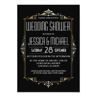 """El boda del tema de los años 20 del rugido riega invitación 5"""" x 7"""""""