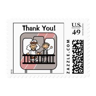 El boda del tren le agradece sella timbre postal
