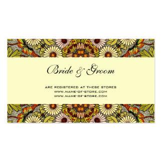 El boda del vintage, jardín florece mariposas flor tarjetas de visita