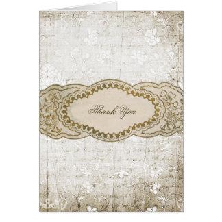El boda del vintage le agradece las tarjetas