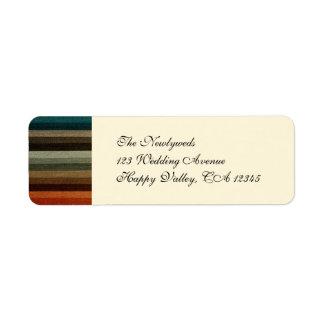El boda del vintage otoño caliente raya el modelo etiquetas de remite