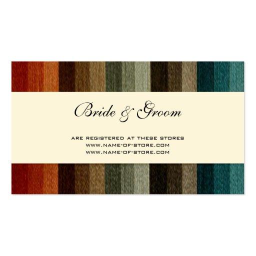El boda del vintage, otoño caliente raya el modelo tarjetas de visita