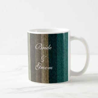 El boda del vintage, otoño caliente raya el modelo taza de café