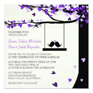 El boda descendente del roble de los corazones de anuncios personalizados