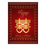 El boda doble chino de la felicidad invita anuncios