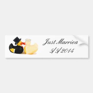 el boda ducks 2 - apenas pegatina casado pegatina para auto