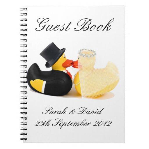 El boda ducks… el libro de visitas del cuaderno 2