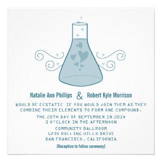 El boda dulce azul de la química invita comunicados personales