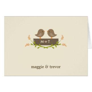 El boda dulce del amor le agradece las tarjetas de