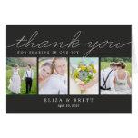 El boda dulce del collage le agradece cardar - el  felicitacion