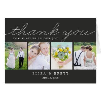 El boda dulce del collage le agradece cardar - el tarjeta pequeña