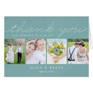 El boda dulce del collage le agradece cardar - la  tarjetas