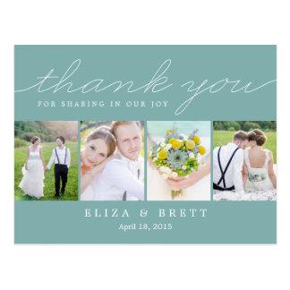 El boda dulce del collage le agradece cardar - la tarjetas postales