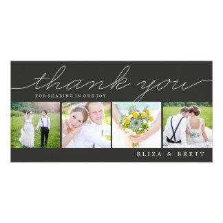 El boda dulce del collage le agradece las tarjetas tarjeta personal