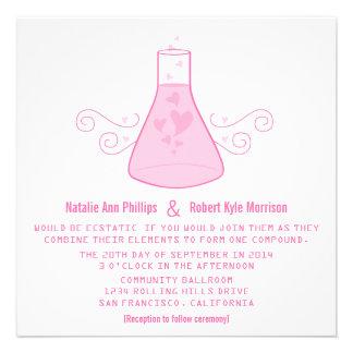 El boda dulce rosado de la química invita comunicados