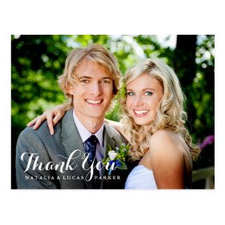 El boda elegante con guión le agradece postal