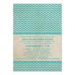 El boda elegante de Chevron del trullo invita Invitación 12,7 X 17,8 Cm