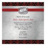 El boda elegante de color rojo oscuro y de plata i