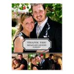 El boda elegante de la etiqueta le agradece cardar tarjeta postal