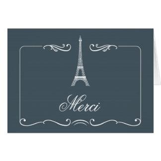 El boda elegante de la torre Eiffel le agradece ca Tarjetón