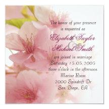 """El boda elegante de lujo del ramo de la primavera invitación 5.25"""" x 5.25"""""""