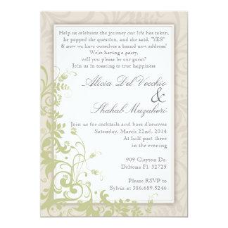 El boda elegante del vintage del fiesta de invitación 12,7 x 17,8 cm