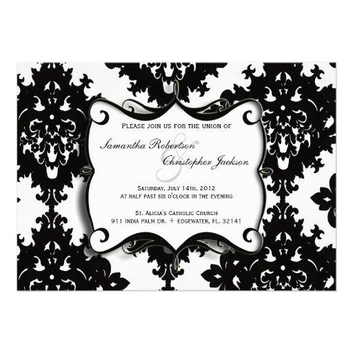 El boda elegante del vintage invita invitación personalizada