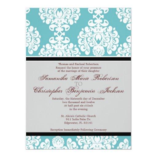El boda elegante del vintage invita invitación 16,5 x 22,2 cm