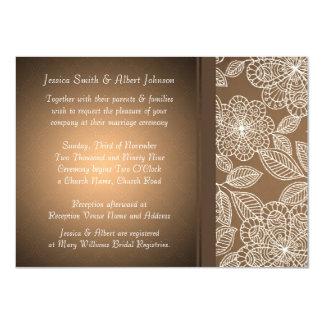 El boda elegante floral de lujo del damasco de invitación personalizada