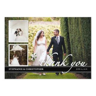 """El boda elegante intemporal le agradece tarjeta de invitación 5"""" x 7"""""""