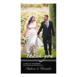 El boda elegante intemporal le agradece tarjeta de tarjetas fotográficas personalizadas