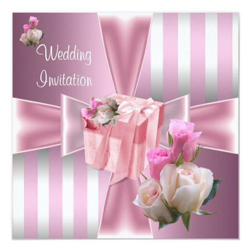 """El boda elegante invita invitación 5.25"""" x 5.25"""""""